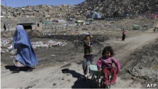 Женщина и дети в Кабуле