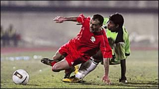 Игрок палестинской сборной по футболу