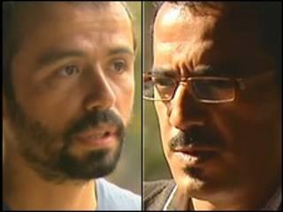 گوکتای کورالتان، فیلمبردار (چپ) و فراس کیلانی، خبرنگار