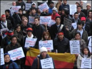 Burma Campaign ကလန်ဒန်မှာ ဆန္ဒပြ