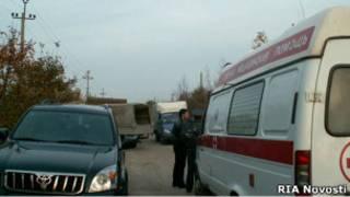Машина скорой помощи в станице Кущевская