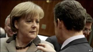 Канцлер Меркель та президент Саркозі