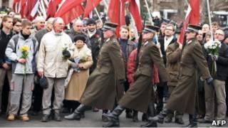 Шествие легионеров СС в 2009 году
