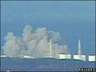 Explosión en planta nuclear japonesa.