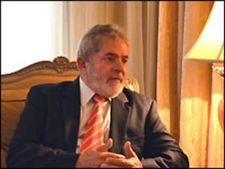 O ex-presidente Luiz Inácio Lula da Silva, em Doha (Foto: Mohsin Ali)