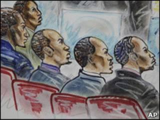 پنج دزد دریایی سومالی در دادگاه فدرال آمریکا