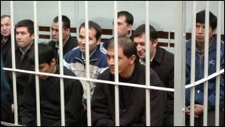 Суд над обвиняемыми в организации беспорядков в Андижане