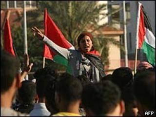 Manifestante em Gaza/15 de março