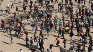 مواجهات بين أنصار حماس والمتظاهرين في غزة