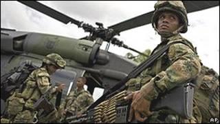 Бойцы колумбийской армии