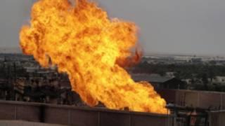 انبوب الغاز المتضرر في شمال سيناء