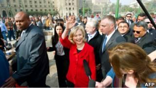 كلينتون في ميدان التحرير