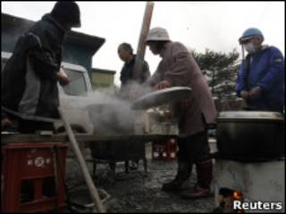 日本災區缺水缺電缺燃料