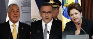 Piñera, Funes y Rousseff
