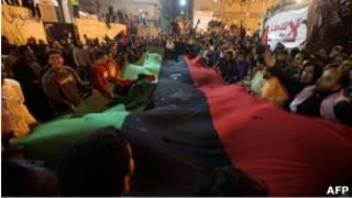 احتفال في بنغازي بقرار فرض الحظر الجوي