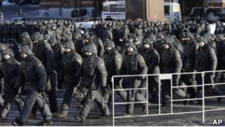 Солдаты внутренних войск в Москве