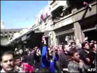 تظاهرات در دمشق