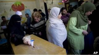 Египтяне голосуют на референдуме