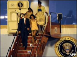 Barack Obama e família