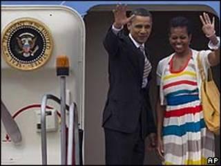 Obama se despede do Rio/AP
