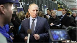 Путин на заводе в Воткинске