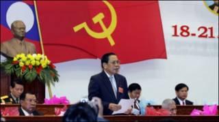 Ông Choummanly Sayasone tại cuộc họp Quốc hội Lào