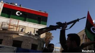مقاتل ضد القذافي في بنغازي