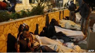 Тунисцы на Лампедузе
