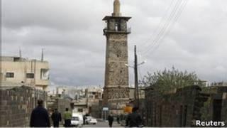 敘利亞反政府示威中心奧馬里清真寺