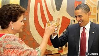 Obama e Dilma. Reuters