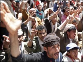 Manifestanates iemenitas