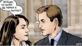 Caricatura de Kate y William