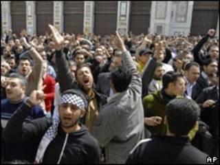 敘利亞大馬士革的抗議民眾(25/3/2011)