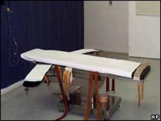美國弗吉尼亞州一所監獄內的死刑行刑室(2005年檔案圖片)