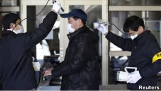 Замеры радиации в Японии