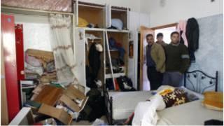 منزل فلسطيني في عورتا بعد حملة تفتيش إسرائيلية