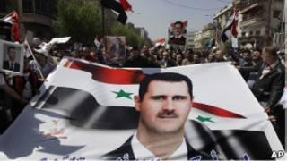 مظاهرات موالية للأسد