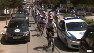 سباق دراجات هوائية في الضفة الغربية
