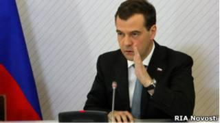 Presiden Dmitry Medvedev