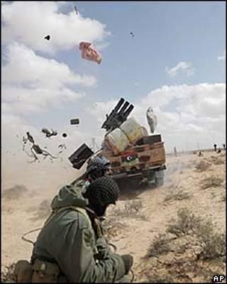 Rebelde na Líbia/AP