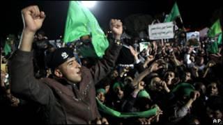 Демонстрация сторонников Каддафи в Триполи