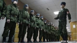 Прибытие призывников на военную службу