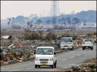 جاپان میں تباہی