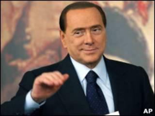 O primeiro-ministro italiano, Silvio Berlusconi