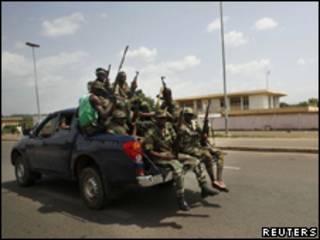 Tropas leais a Ouattara na Costa do Marfim