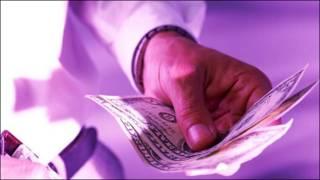 Man handing out money