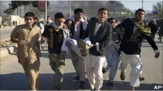 L'attaque d'un batiment de l'ONU à MazariSaharif