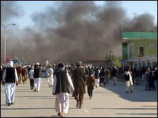 حمله به دفتر یوناما در مزار شریف