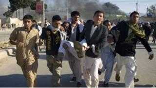ضحايا الهجوم على مكتب الامم المتحدة في نزار شريف