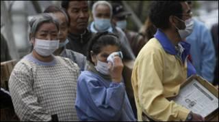Người dân trong vùng nhiễm xạ
